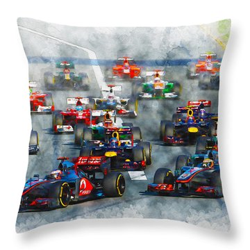 Australian Grand Prix F1 2012 Throw Pillow