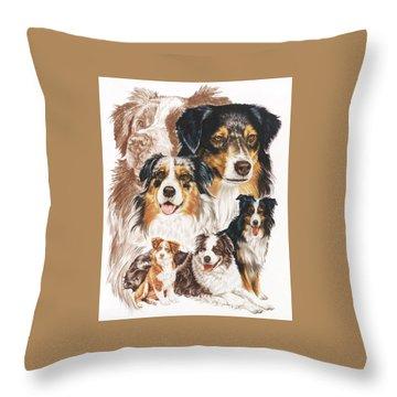 Australian Shepherd Revamp Throw Pillow