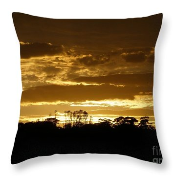 Australian Sunrise Throw Pillow by Bev Conover