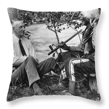 Author James Willard Schultz Throw Pillow