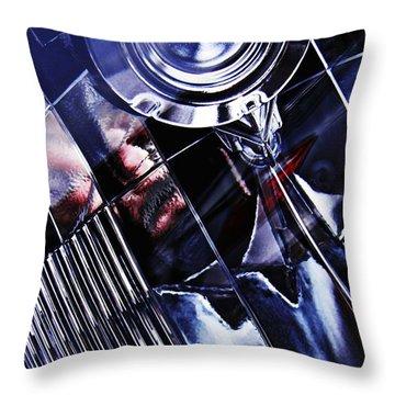 Auto Headlight 103 Throw Pillow by Sarah Loft