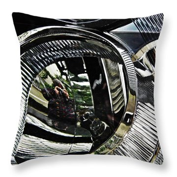 Auto Headlight 133 Throw Pillow by Sarah Loft