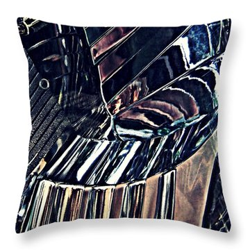 Auto Headlight 28 Throw Pillow by Sarah Loft