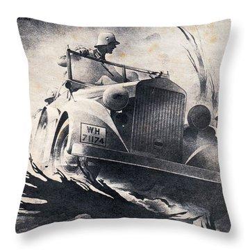 Auto Union Throw Pillow