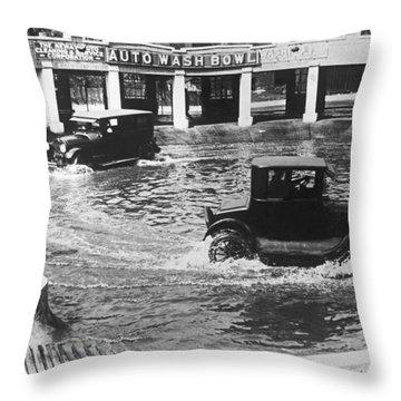 Auto Wash Bowl Throw Pillow