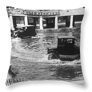 Auto Wash Bowl Throw Pillow