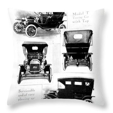 Automobile Advertisement Throw Pillow by Granger