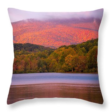 Autum Glow Throw Pillow by Serge Skiba