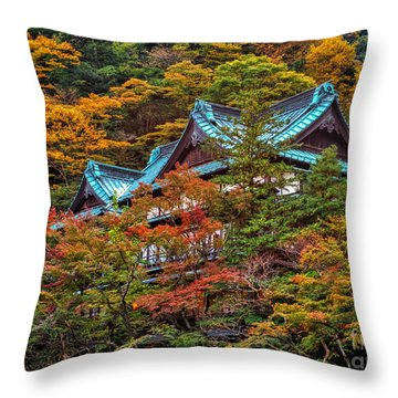 Autum In Japan Throw Pillow