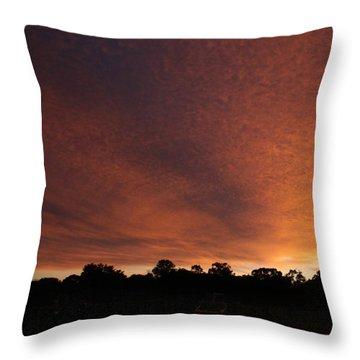 Autum Sunset Throw Pillow