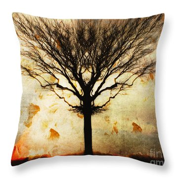 Autum Wind Throw Pillow