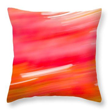 Autumn Abstract Throw Pillow by Shane Holsclaw