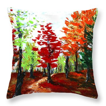 Autumn Throw Pillow by Anastasiya Malakhova