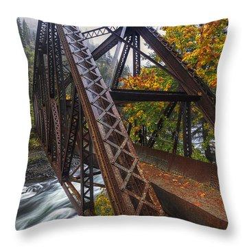 Autumn And Iron Throw Pillow