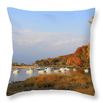 Autumn At Cold Spring Harbor Throw Pillow
