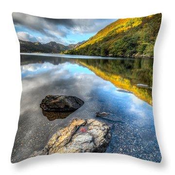 Autumn At Crafnant  Throw Pillow by Adrian Evans
