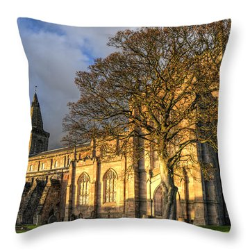 Throw Pillow featuring the photograph Autumn At Dunfermline Abbey by Ross G Strachan
