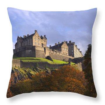 Autumn At Edinburgh Castle Throw Pillow