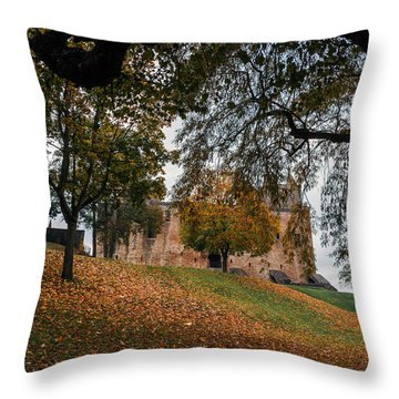 Throw Pillow featuring the photograph Autumn At Linlithgow Palace by Ross G Strachan