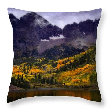 Throw Pillow featuring the photograph Autumn At Maroon Bells by Ellen Heaverlo
