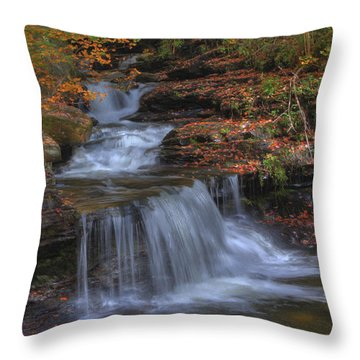 Autumn At Ricketts Glen Throw Pillow
