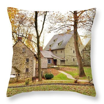 Autumn At The Cloister Throw Pillow by Jean Goodwin Brooks
