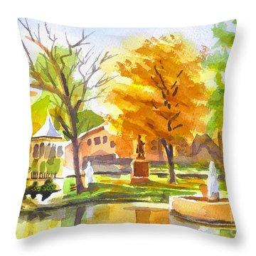 Autumn At The Villa Throw Pillow by Kip DeVore
