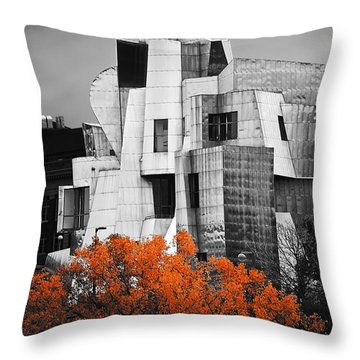 autumn at the Weisman Throw Pillow