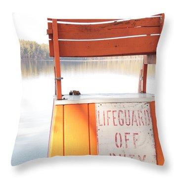 Autumn At White Lake Throw Pillow