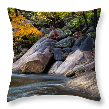 Autumn At Wilson Creek 2 Throw Pillow by Serge Skiba