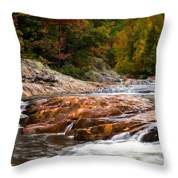 Autumn At Wilson Creek Throw Pillow by Serge Skiba