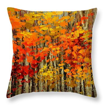 Autumn Banners Throw Pillow by Tatiana Iliina