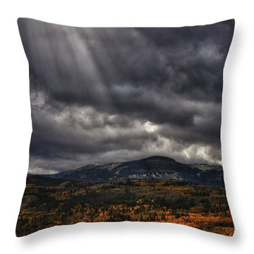 Autumn Beams Throw Pillow