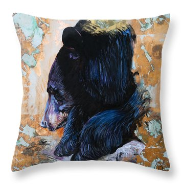 Autumn Bear Throw Pillow