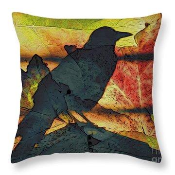 Autumn Bird Throw Pillow