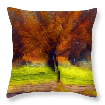 Autumn Blaze Throw Pillow