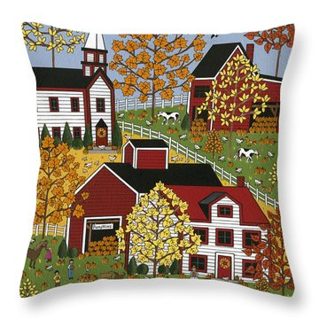 Autumn Blessings Throw Pillow by Medana Gabbard