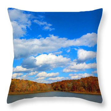 Autumn Bliss Throw Pillow by Lorna Rogers Photography