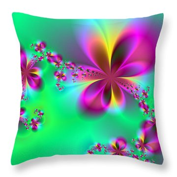 Autumn Bloom Throw Pillow by Ester  Rogers