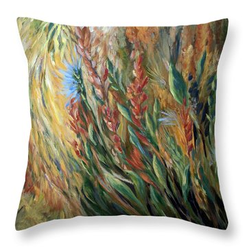 Autumn Bloom Throw Pillow