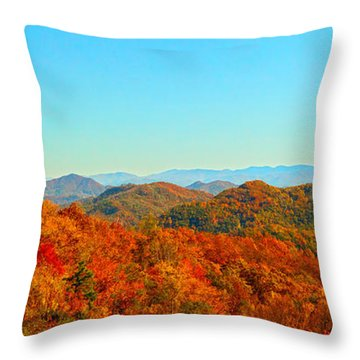 Autumn Blue Ridge Throw Pillow