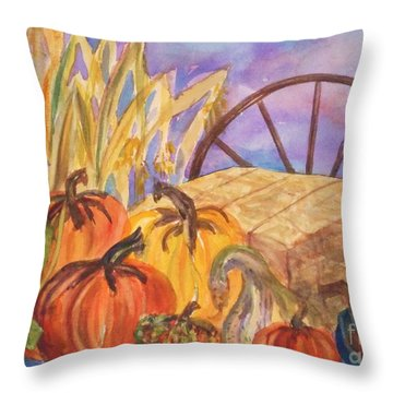 Autumn Bounty Throw Pillow by Ellen Levinson