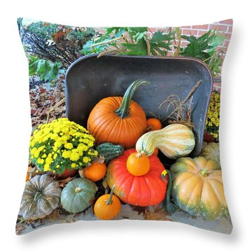 Autumn Bounty Throw Pillow by Jeanette Oberholtzer