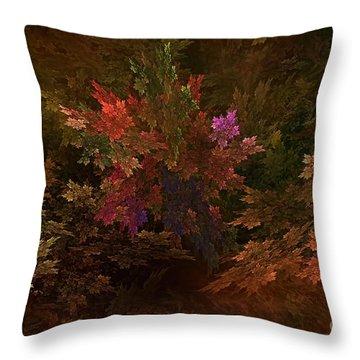 Throw Pillow featuring the digital art Autumn Bouquet by Olga Hamilton