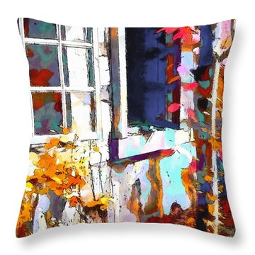 Autumn Breeze Through Open Windows    Windows Throw Pillow by Barbara D Richards