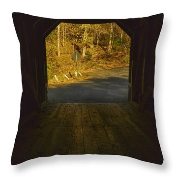 Autumn Bridge II Throw Pillow
