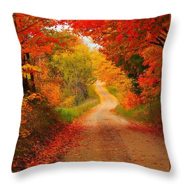 Autumn Cameo Throw Pillow by Terri Gostola