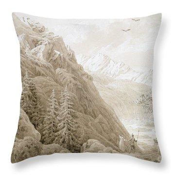 Autumn Throw Pillow by Caspar David Friedrich