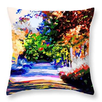 Autumn Throw Pillow by CHAZ Daugherty