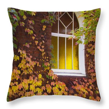 Autumn Church Throw Pillow